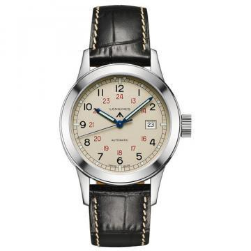Longines Heritage Collection Leather Strap Men's Watch