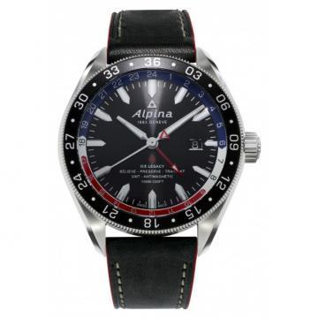 Alpina Alpiner 4 GMT Black Dial Men's Watch