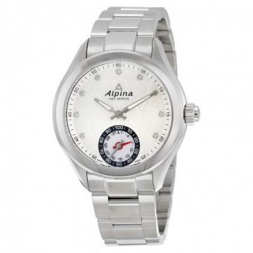 Alpina Horological Smartwatch White Dial Steel Strap