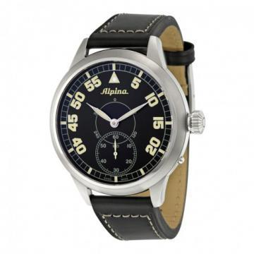 Alpina Pilot Heritage Leather Strap Watch