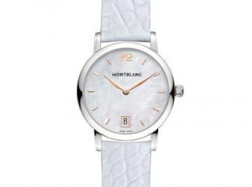 Montblanc Star Classique Lady White Leather Strap Women's Watch