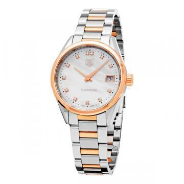 TAG Heuer Carrera Quartz Rose Gold Diamond Dial Watch