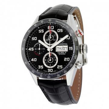 TAG Heuer Carrera Calibre 16 Chronograph Day-Date Black Strap