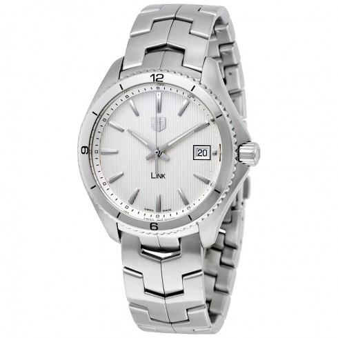 TAG Heuer Link 40mm Silver Gray Dial Watch