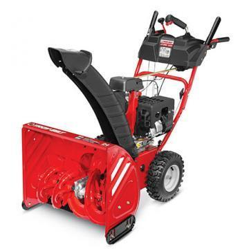"Troy-Bilt Gas Snow Blower, 2 Stage, 208cc Electric Start Engine, 24"" Path"
