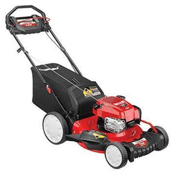 Troy-Bilt Self-Propelled Lawn Mower, High Wheels, 3-In-1, 163cc Engine, 21""