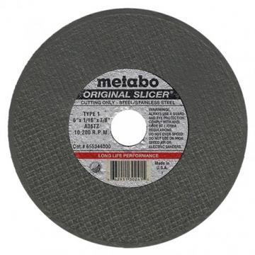 "Metabo Long Life 6"" Cut-Off Wheel, 0.045"" Thickness, 7/8"" Arbor Hole"