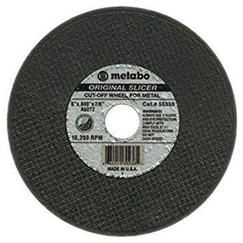 "Metabo Original Slicer 6"" Cut-Off Wheel, 0.040"" Thickness, 7/8"" Arbor Hole"