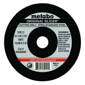 "Metabo Long Life 4-1/2"" Cut-Off Wheel, 0.045"" Thickness, 7/8"" Arbor Hole"