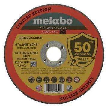 "Metabo A60XL 6"" Cut-Off Wheel, 0.045"" Thickness, 7/8"" Arbor Hole"