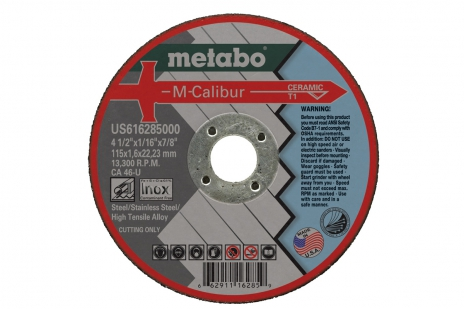 "Metabo CA46U 4-1/2"" Cut-Off Wheel, 0.045"" Thickness, 7/8"" Arbor Hole"