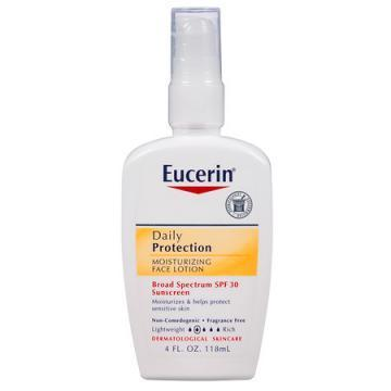 Eucerin Daily Protection SPF 30 Sunscreen Moisturizing Face Lotion