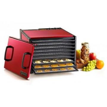 Excalibur D900RC 9-Tray Color 26-Hour Timer Radiant Raspberry Dehydrator