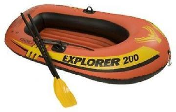 Intex Explorer 200, 2-Person Inflatable Boat w/French Oars & Mini Air Pump