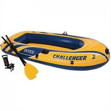 Intex Challenger 2, 2-Person Inflatable Boat w/French Oars & High Output Pump