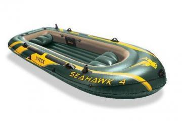 Intex Seahawk 4, 4-Person Inflatable Boat w\Aluminum Oars & High Output Pump