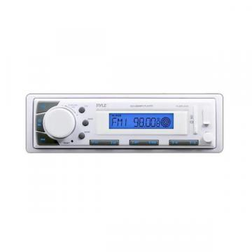Pyle KTMRGS49 White Marine Stereo AM/FM Receiver and USB/SD iPod/MP3 Player