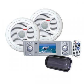 Pyle KTMRGS21 AM/FM-MPX In-Dash Marine CD/MP3 Player with Detachable Panel