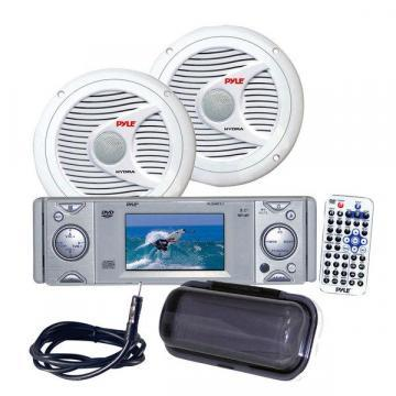 Pyle KTMRGS23 AM/FM-MPX In-Dash Marine CD/MP3 Player with Detachable Panel
