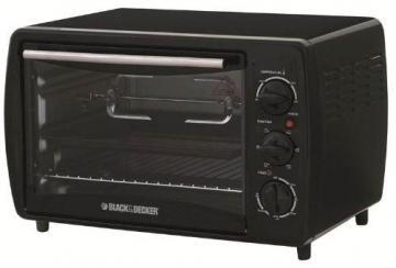 Black & Decker TRO2000R 19 L Toaster Oven with Rotisserie, Black
