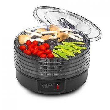 NutriChef PKFD14BK Kitchen Electric Countertop Food Dehydrator