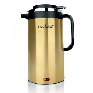 NutriChef PKWK23 Electric Water Kettle, Gold