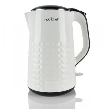 NutriChef PKWK10 Electric Kitchen Kettle, White
