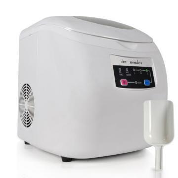NutriChef PICEM20 Countertop Electronic Ice Maker, White