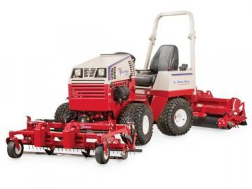 Ventrac DG550 Ballpark Renovator attachment