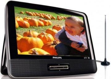 "Philips PT902 9"" Portable Digital TV with Built-in HDTV and FM Tuner"