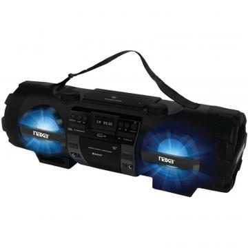 Naxa NPB-262 MP3/CD Bass Reflex Boombox and PA System