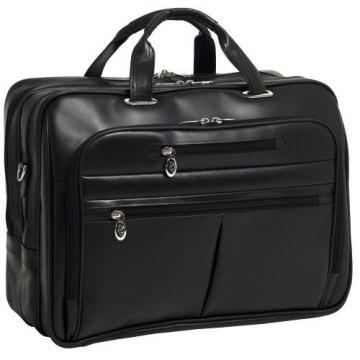 "McKleinUSA Rockford Leather Checkpoint-Friendly 17"" Laptop Case Black"