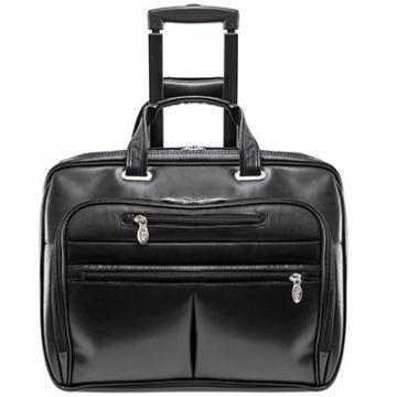 "McKleinUSA Black Wrightwood Wheeled 17"" Laptop Case"