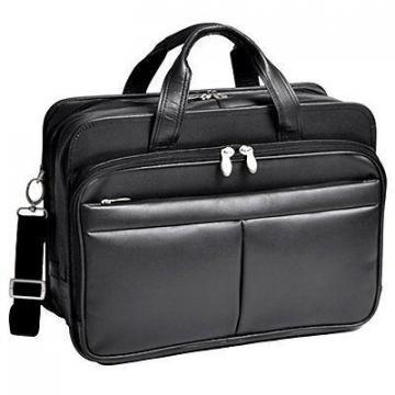 "McKleinUSA Walton Leather 17"" Expandable Laptop Case"