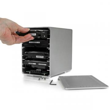 "StarTech 4-Bay 3.5"" SATA HDD Enclosure, Thunderbolt 2, RAID"