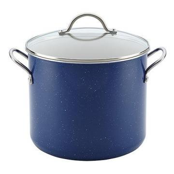 Farberware Speckled Aluminum Nonstick 12-quart Blue Covered Stockpot