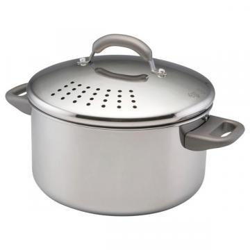 Farberware Stainless Steel 6-Quart Covered Straining Stockpot
