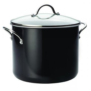 Farberware Aluminum Nonstick 12-Quart Stockpot, Black