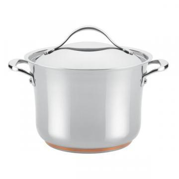 Anolon Nouvelle Copper Stainless Steel 6 1/2-quart Covered Stockpot