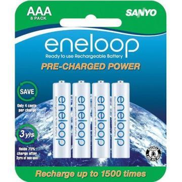 SANYO eneloop AAA 1800 cycle, Ni-MH Rechargeable Batteries, 8 Pack