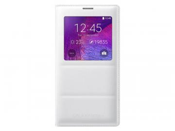 Samsung Galaxy Note 4 Case Sview Flip Cover Folio Case White with Charger
