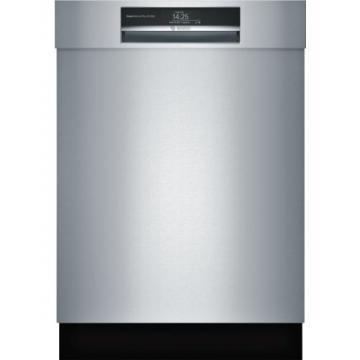 "Bosch SHEM78WH5N 800 Series 24"" Recessed Handle Dishwasher"