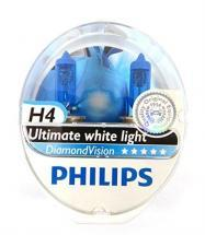 Philips Diamond Vision Halogen HID Bulbs H4 / 9003 (Pair)