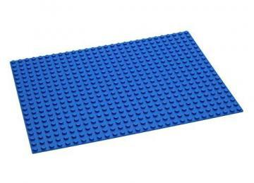 Hubelino 560 Base Plate for Building Blocks, Blue