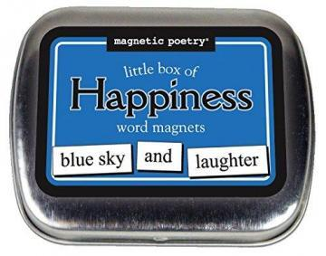 Magnetic Poetry Little Box of Happiness Kit - Words for Refrigerator