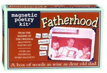 Magnetic Poetry Fatherhood Magnetic Poetry Kit
