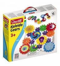 Quercetti Kaleido Gears - 55 Piece Building Set with 3 Different Sized Gears