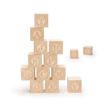 Uncle Goose Uppercase Alphablank Blocks