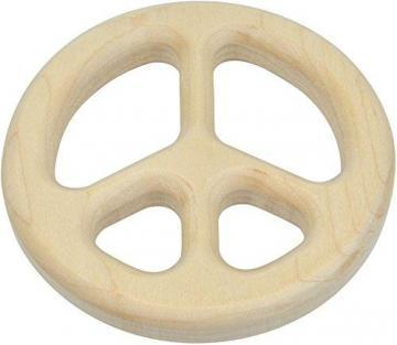 Maple Landmark Peace Sign Shaped Maple Teether