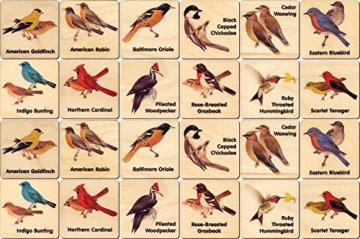 Maple Landmark Peterson Backyard Bird Memory Tiles